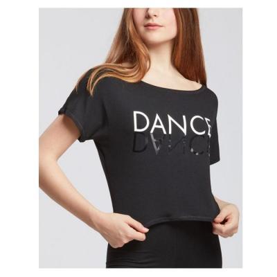 Tee-shirt TempsDanse Agile Mirror noir