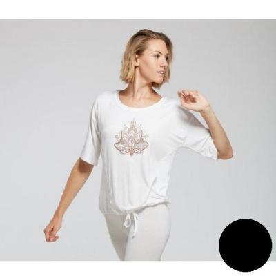 Tee-shirt Yoga TempsDanse Arkadia Flower noir