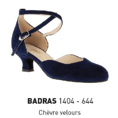 Chaussures femme Merlet Badras velours nuit