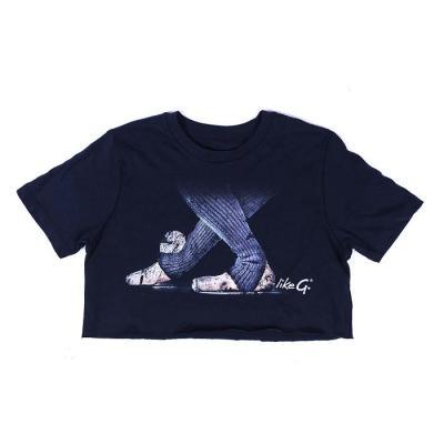 Tee-shirt LikeG Crop Top marine