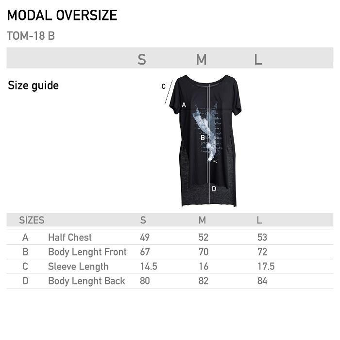 Likeg oversize tee shirt modal taille
