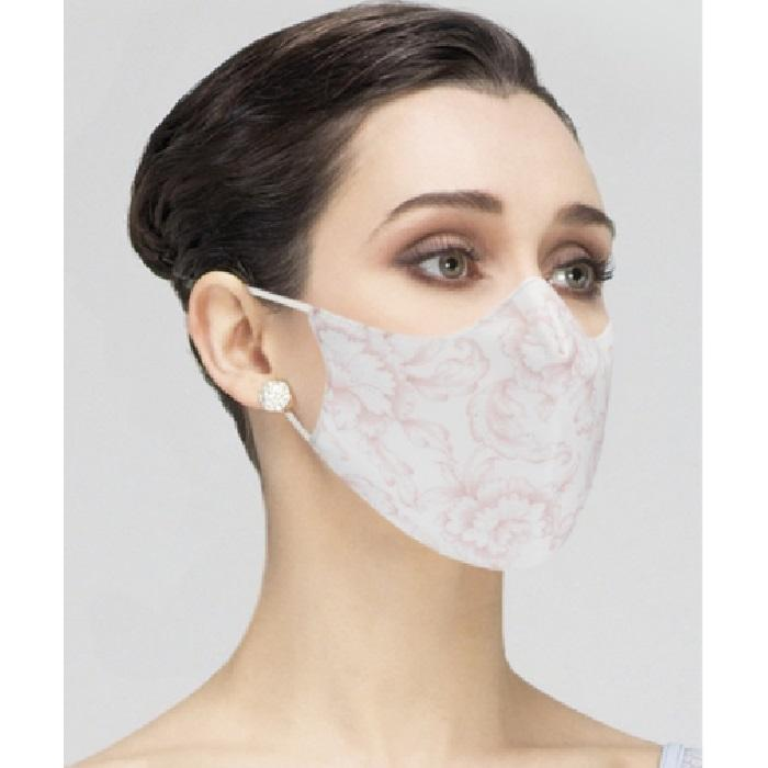 Masque femme fleur rose