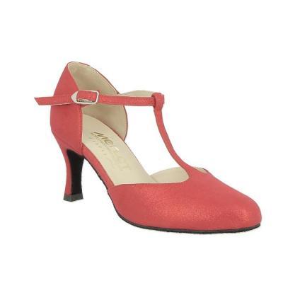 Chaussures femme Merlet Nina rouge brillant doré