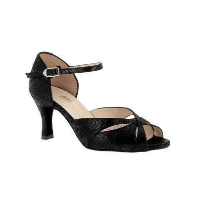 Chaussures femme Merlet Saphir cuir fantaisie noir